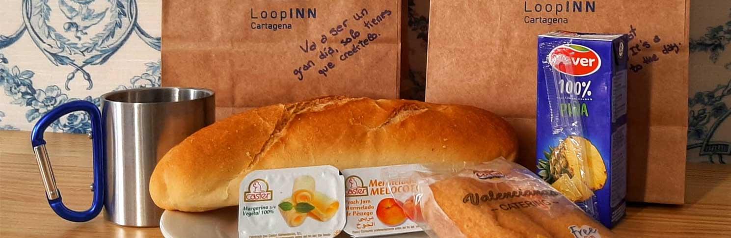 Desayuno Loop Inn Cartagena